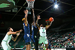 DENTON, TX - JANUARY 09: North Texas Mean Green Men's Basketball v Florida International University at Super Pit - North Texas Coliseum on January 9, 2019 in Denton, Texas.
