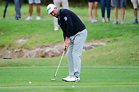 Graeme McDowell (NIR) watches his putt on 13 during round 3 of the Valero Texas Open, AT&amp;T Oaks Course, TPC San Antonio, San Antonio, Texas, USA. 4/22/2017.<br /> Picture: Golffile | Ken Murray<br /> <br /> <br /> All photo usage must carry mandatory copyright credit (&copy; Golffile | Ken Murray)