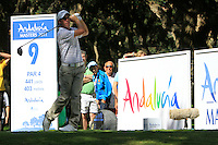 Romain Wattel (FRA) during the final day of the  Andalucía Masters at Club de Golf Valderrama, Sotogrande, Spain. .Picture Denise Cleary www.golffile.ie
