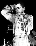 Ian Dury performs onstage at the Bottom Line in New York City in May, 1978