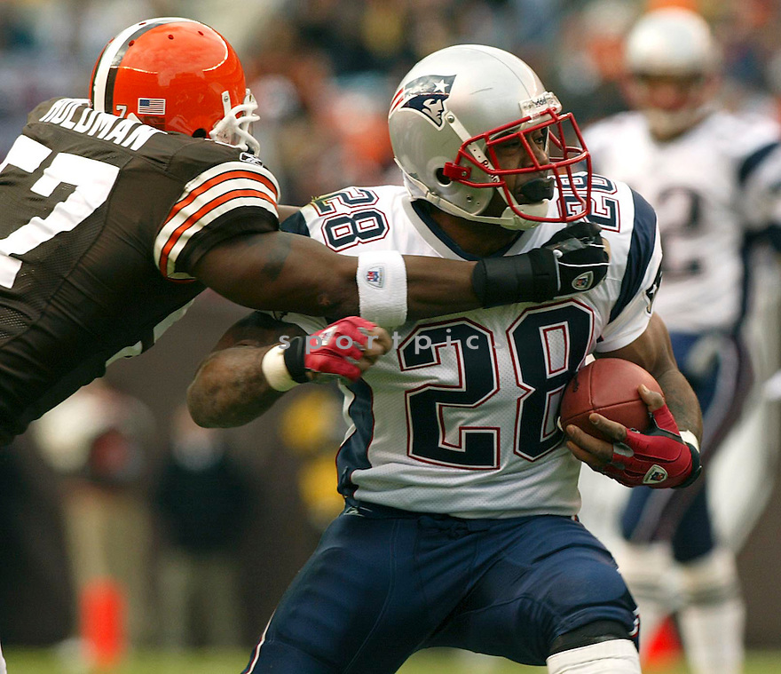 Corey Dillon during the New England Patriots v. Cleveland Browns game on December 5, 2005. ..Patriots win 42-15..Kevin Tanaka / SportPics
