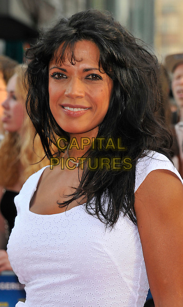 Jenny Powell.'Keith Lemon: The Film' Premiere, Odeon West End cinema, Leicester Square, London, England..20th August 2012.headshot portrait white.CAP/WIZ.© Wizard/Capital Pictures.