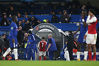 Arsenal's Alexis Sanchez quickly heads for the dressing room at the final whistle during Chelsea vs Arsenal, Caraboa Cup Football at Stamford Bridge on 10th January 2018