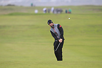 Andrew Wilson from England on the 10th fairway during Round 3 Foursomes of the Men's Home Internationals 2018 at Conwy Golf Club, Conwy, Wales on Friday 14th September 2018.<br /> Picture: Thos Caffrey / Golffile<br /> <br /> All photo usage must carry mandatory copyright credit (&copy; Golffile | Thos Caffrey)