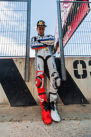 Jorge Lorenzo in the Cheste Raceway wall