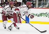 Jake Horton (Harvard - 91), Greg Gozzo (Harvard - 13) - The Harvard University Crimson defeated the visiting Colgate University Raiders 7-4 (EN) on Saturday, February 20, 2016, at Bright-Landry Hockey Center in Boston, Massachusetts,