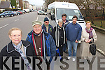 People from Brandon Point arriving in Tralee on Wednesday on the Community Bus Service from Left: Bridie Fitzgerald, Sean Dineen, Mike Deane, Kathleen Rohan, Michael O'Shea, Adrian O'Connor and Maura O'Neill.