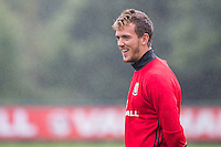 Emyr Huws during the Wales open Training session ahead of the opening FIFA World Cup 2018 Qualification match against Moldova at The Vale Resort, Cardiff, Wales on 31 August 2016. Photo by Mark  Hawkins / PRiME Media Images.