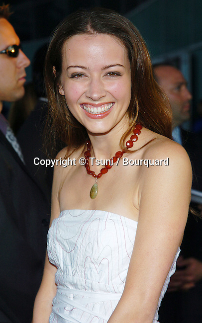 Amy Acker arriving at The Punisher Premiere at the Arclight Cinerama Dome in Los Angeles. April 12, 2004.