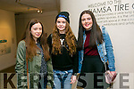 l-r  Shauna McElligott, Chloe Carey and Molly Clifford.enjoying the Kerry School of Music production of Sweeney Todd at Siamsa Tire on Friday