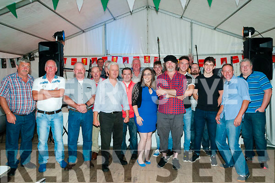 The Marquee, Ballyduff: Ballyduff locals pictured at the Marquee at Your Man's Bar, Ballyduff at the Legend of Luke Kelly tribute concert performed by Chris Kavanagh (in  red Chck shirt ) on Saturday night last.