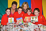 Students from Holy Cross, Killarney who are collecting Christmas cards for recycling in aid of the missions l-r: Margaret Toner,Ursulla Coffey Principal, Elizabeth Cronin, Rhonda Daly Class teacher, Kate Slattery and Holly Ring