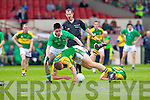 Michael Brennan contests with Limerick's Eddie Mulcahy in the Munster Junior Championship Semi final held in the Gaelic Grounds last Saturday.
