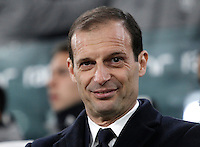 Calcio, Serie A: Torino, Juventus Stadium, 5 febbraio 2017.<br /> Juventus' coach Massimiliano Allegri smiles before the Italian Serie A football match between Juventus and Inter Milan at Turin's Juventus Stadium, on February 5, 2017.<br /> UPDATE IMAGES PRESS/Isabella Bonotto