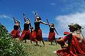 Hula dancers on the island of Kauai, Hawaii.  Shot on location for Idanha Films.