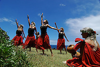 Hula dancers on the island of Kauai, Hawaii.  Shot on location for Idanha Films.