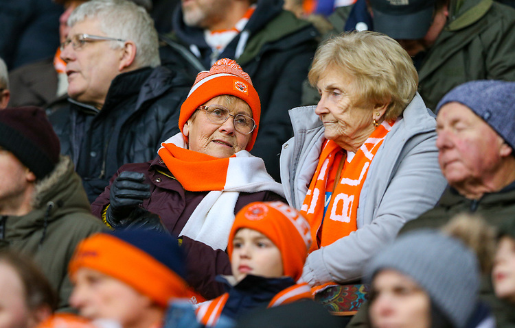 Blackpool fans watch on<br /> <br /> Photographer Alex Dodd/CameraSport<br /> <br /> The EFL Sky Bet League One - Blackpool v Shrewsbury Town - Saturday 19 January 2019 - Bloomfield Road - Blackpool<br /> <br /> World Copyright © 2019 CameraSport. All rights reserved. 43 Linden Ave. Countesthorpe. Leicester. England. LE8 5PG - Tel: +44 (0) 116 277 4147 - admin@camerasport.com - www.camerasport.com
