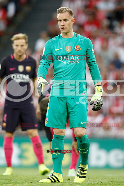 FC Barcelona's Marc-Andre Ter Stegen during La Liga match. August 28,2016. (ALTERPHOTOS/Acero) /NORTEPHOTO