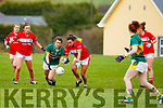 Kerry's Amanda Brosnan and Brid O'Sullivan tussle for possession in the opening round of the Lidl NFL Division1 on Sunday last in Knocknagoshel.