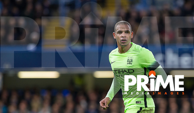Fernando of Man City during the FA Cup 5th round match between Chelsea and Manchester City at Stamford Bridge, London, England on 21 February 2016. Photo by Andy Rowland.
