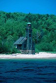 Grand Island East Channel Lighthouse, Munising, Michigan, Upper Peninsula of Michigan, Lake Superior.