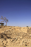 Israel, Arava region, ruins of the fortress in Ein Hatzeva