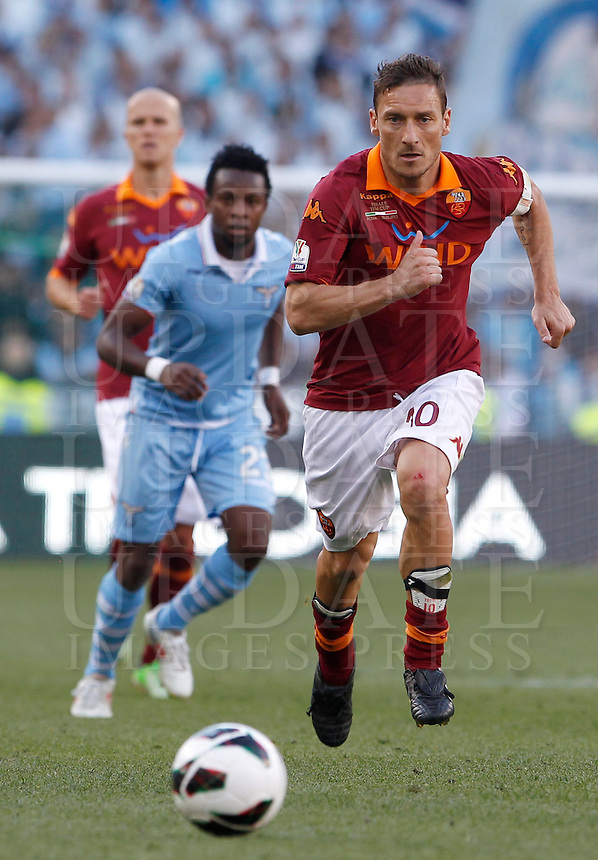 Calcio, finale di Coppa Italia: Roma vs Lazio. Roma, stadio Olimpico, 26 maggio 2013..AS Roma forward Francesco Totti in action during the Italian Cup football final match between AS Roma and Lazio at Rome's Olympic stadium, 26 May 2013..UPDATE IMAGES PRESS/Isabella Bonotto....