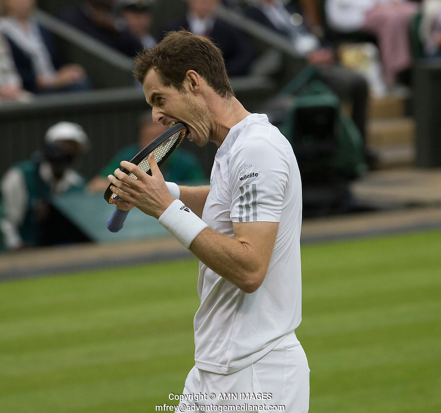 ANDY MURRAY (GBR)<br /> <br /> The Championships Wimbledon 2014 - The All England Lawn Tennis Club -  London - UK -  ATP - ITF - WTA-2014  - Grand Slam - Great Britain -  30th June 2014. <br /> <br /> © AMN IMAGES