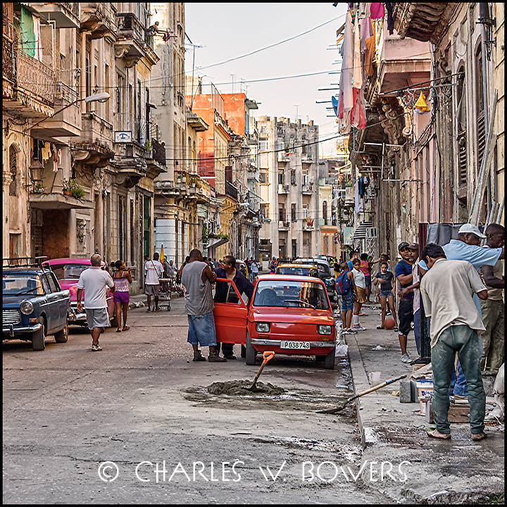 Faces Of Cuba - A typical street scene in Old Havana<br />