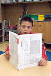 Oakland CA 2nd grader being tested in class using STAR test (California Standard Testing and Reporting) MR