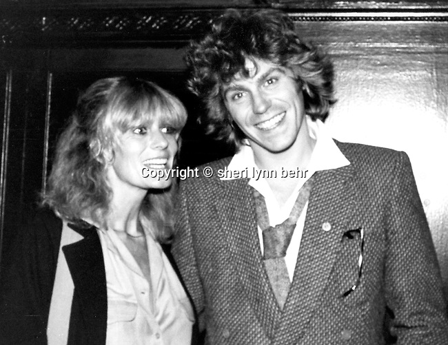 Jeff Conaway and Rona Newton-John at a party for Cerrone at Xenon, 1978