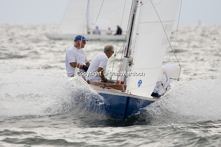 racing Atlantic sailboat ready to set spinnaker