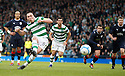 CELTIC'S SCOTT BROWN SCORES CELTIC'S FIRST FROM THE SPOT