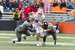Wisconsin Badgers tight end Zander Neuville (85) carries the ball during an NCAA College Big Ten Conference football game against the Illinois Fighting Illini Saturday, October 28, 2017, in Champaign, Illinois. The Badgers won 24-10. (Photo by David Stluka)