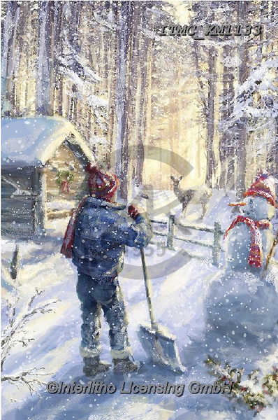 Marcello, CHRISTMAS CHILDREN, WEIHNACHTEN KINDER, NAVIDAD NIÑOS, paintings+++++,ITMCXM1133,#xk# ,playing in snow