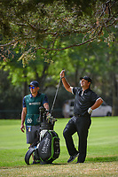 Patrick Reed (USA) selects his club for his shot from the trees on 11 during round 2 of the World Golf Championships, Mexico, Club De Golf Chapultepec, Mexico City, Mexico. 2/22/2019.<br /> Picture: Golffile | Ken Murray<br /> <br /> <br /> All photo usage must carry mandatory copyright credit (&copy; Golffile | Ken Murray)
