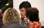 Suspect Wilber Martinez-Guzman appears in Carson City Justice Court, in Carson City, Nev., on Thursday, Jan. 24, 2019. Martinez-Guzman, who is currently facing 36-counts of weapons and stolen property-related charges, is also expected to be charged with the murders of four people in Gardnerville and Reno in coming days. (Cathleen Allison/Las Vegas Review-Journal)