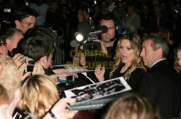 "MICHELLE PFEIFFER.""Stardust"" European film premiere, Odeon, Leicester Square, London, England. .October 3rd, 2007 .half length black fans crowd mouth open.CAP/AH.©Adam Houghton/Capital Pictures."
