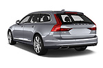 Car pictures of rear three quarter view of 2017 Volvo V90 Inscription 5 Door Wagon Angular Rear