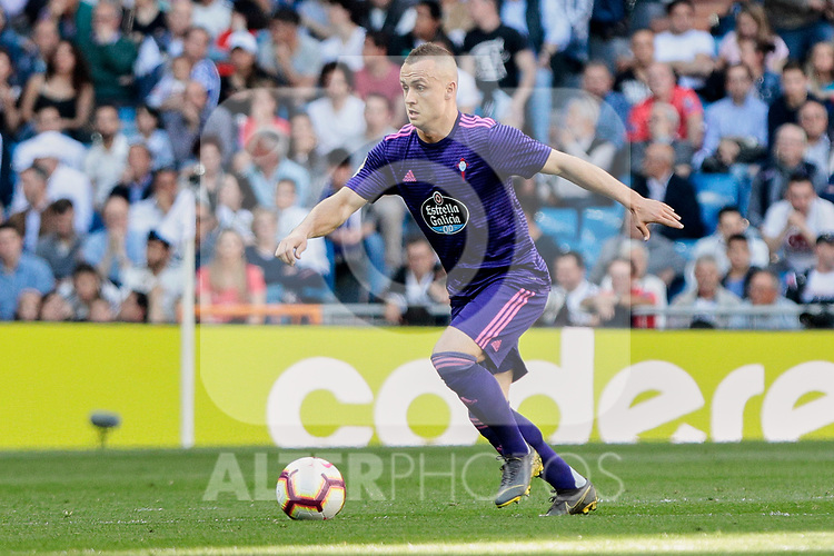 Real Club Celta de Vigo's Stanislav Lobotka during La Liga match between Real Madrid and Real Club Celta de Vigo at Santiago Bernabeu Stadium in Madrid, Spain. March 16, 2019. (ALTERPHOTOS/A. Perez Meca)