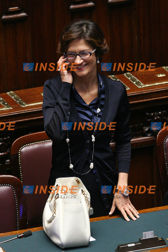 MARIASTELLA GELMINI..Roma 20/07/2011 Camera dei Deputati. Voto sul Decreto Rifiuti...Photo Samantha Zucchi Insidefoto