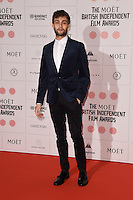 Douglas Booth arriving for the British Independent Film Awards 2014 at Old Billingsgate, London. 07/12/2014 Picture by: Steve Vas / Featureflash