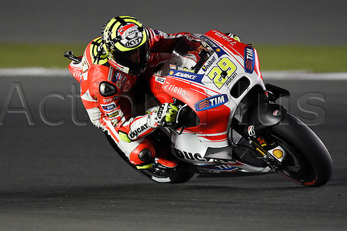 28.03.2015. Losail, Doha. MotoGP. Qatar Grand Prix Qualifying. Andrea Iannone (Ducati Team) during qualifying sessions