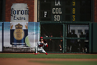 SAN FRANCISCO, CA - AUGUST 11:  Bryce Harper #3 of the Philadelphia Phillies catches a line drive in right field against the San Francisco Giants during the game at Oracle Park on Sunday, August 11, 2019 in San Francisco, California. (Photo by Brad Mangin)