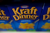 Kraft Dinner are seen in a Metro grocery store in Quebec city March 4, 2009.