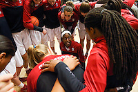 STANFORD, CA - February 27, 2014: Stanford Cardinal's Chiney Ogwumike before Stanford's 83-60 victory over Washington at Maples Pavilion.