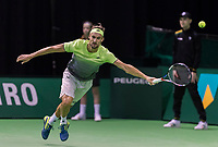 Rotterdam, Netherlands, 11 februari, 2018, Ahoy, Tennis, ABNAMROWTT, Qualifying final, Ruben Bemelmans (BEL)<br /> Photo: Henk Koster/tennisimages.com