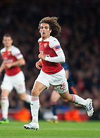 Arsenal's Matteo Guendouzi during the UEFA Europa League Semi-Final 1st leg match between Arsenal and Valencia at the Emirates Stadium, London, England on 2 May 2019. Photo by Andrew Aleksiejczuk / PRiME Media Images.