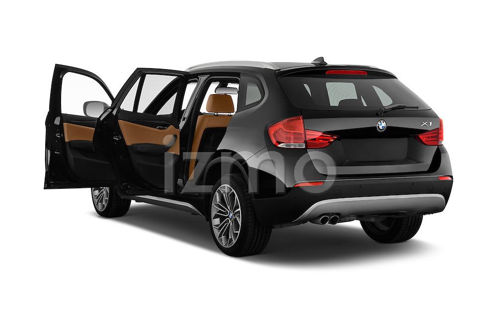 Rear three quarter door view of a 2012 Bmw X1 xDrive20d 5 Door Suv 2WD