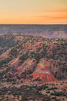 It was cold this morning at Palo Duro Canyon. The soft clouds combined with the earlly morning light cast an orange tint across this magnificent canyon - the start to another day of fun and exploration in the Texas Panhandle.